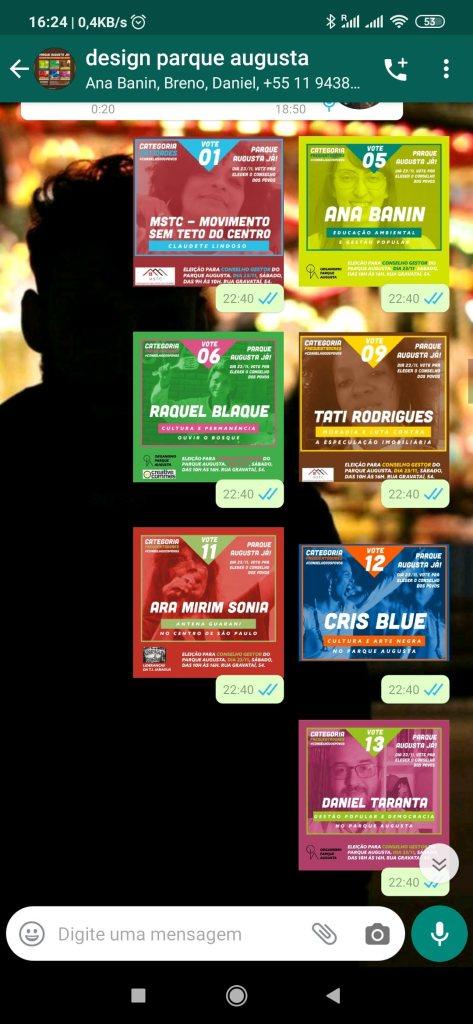 Exemplos de figurinhas criadas para uso nos grupos e viralização de mensagem